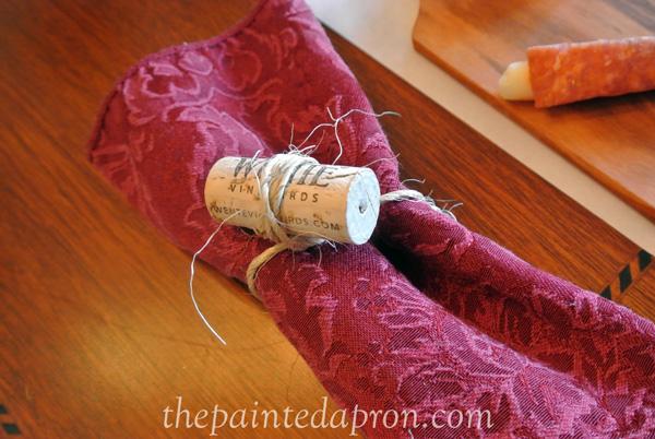 wine cork napkin ring thepaintedapron.com
