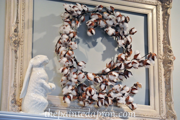 cotton wreath thepaintedapron.com