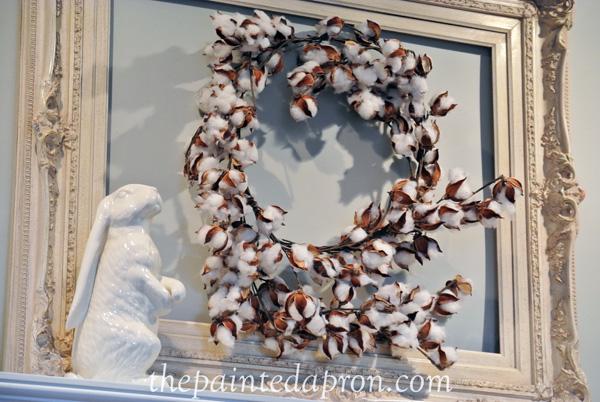 cotton wreath thepaintedapron.com