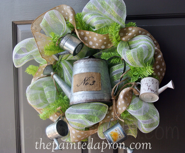 watering can wreath