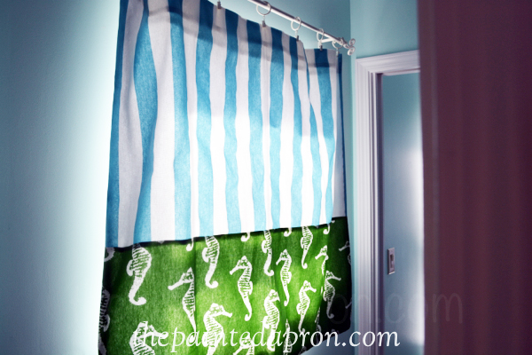 beach curtain thepaintedapron.com