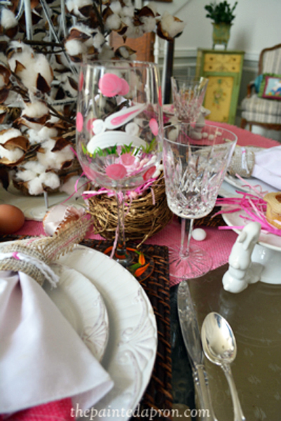 bunny glass thepaintedapron.com