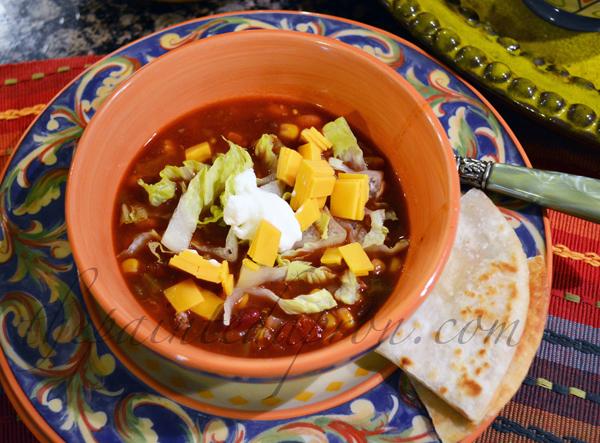 taco soup 6 thepaintedapron.com