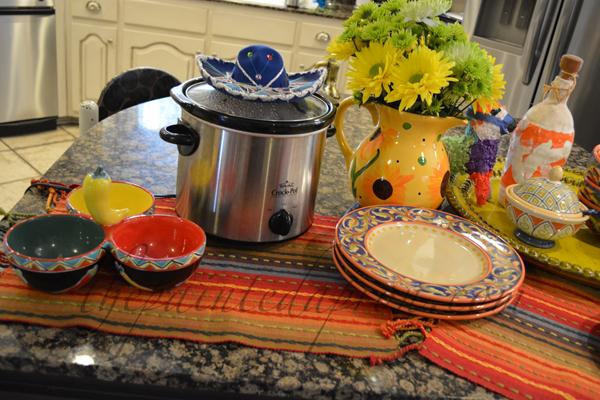 taco soup bar 1 thepaintedapron.com