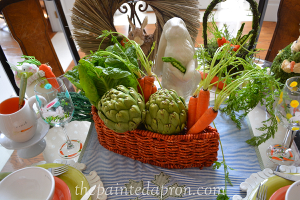 vegetable centerpiece thepaintedapron.com