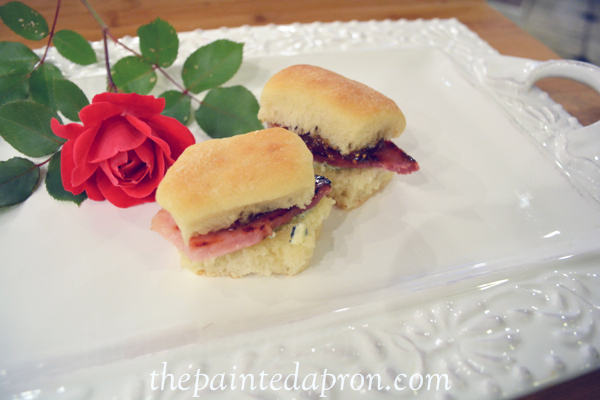 ham fig and bleu cheese biscuits thepaintedapron.com