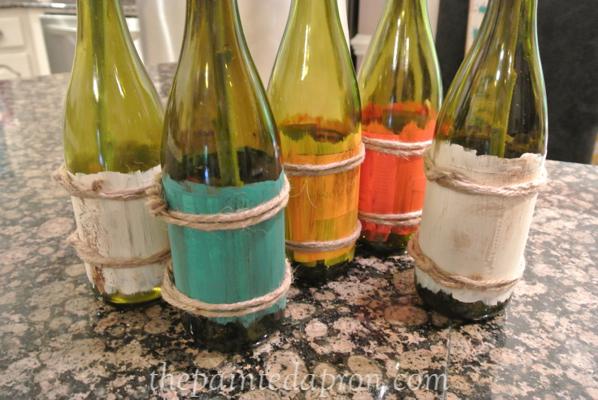 painted wine bottle thepaintedapron.com