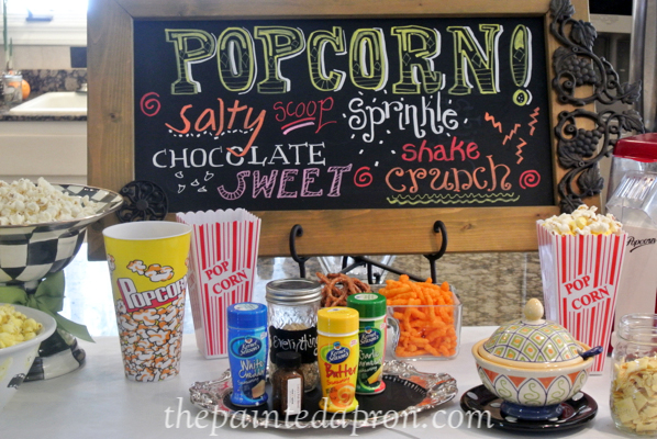 popcorn bar thepaintedapron.com