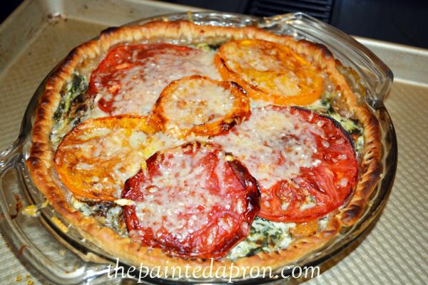 summer tomato pie thepaintedapron.com