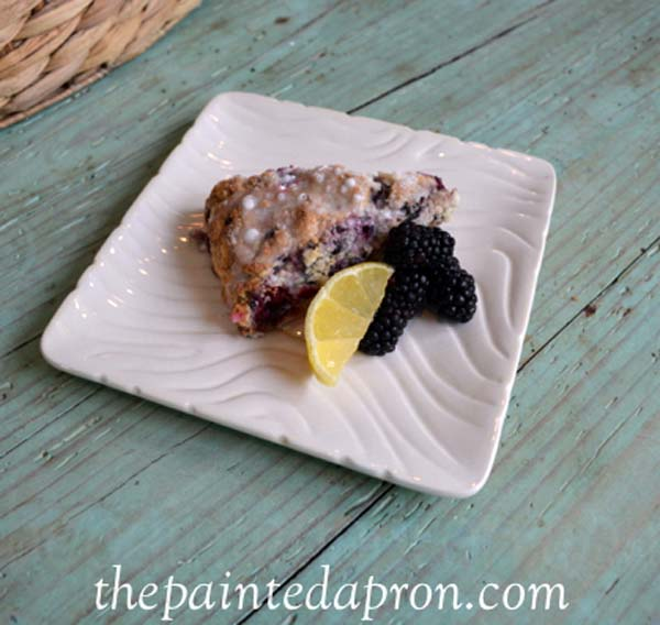 blackberry lemon scones thepaintedapron.com