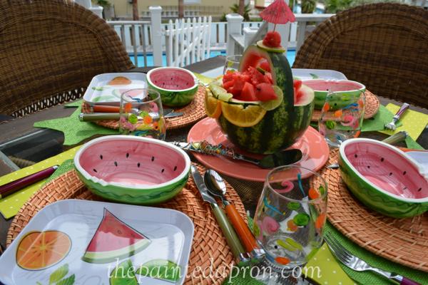 watermelon table thepaintedapron.com 1