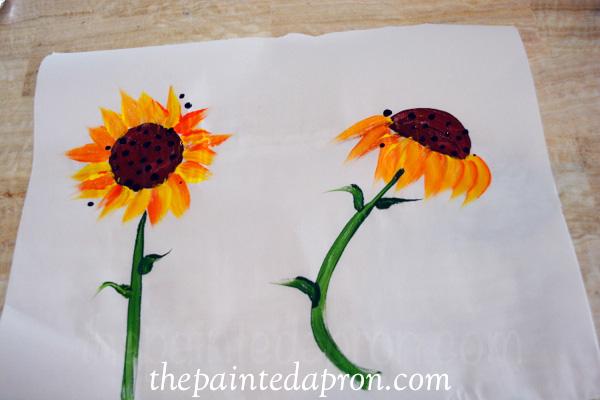 easy sunflowers thepaintedapron.com