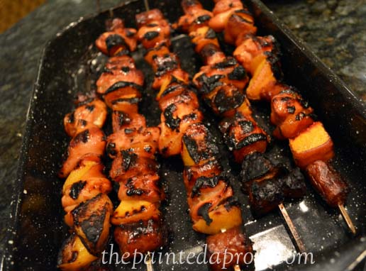 meat and fruit kebabs thepaintedapron.com