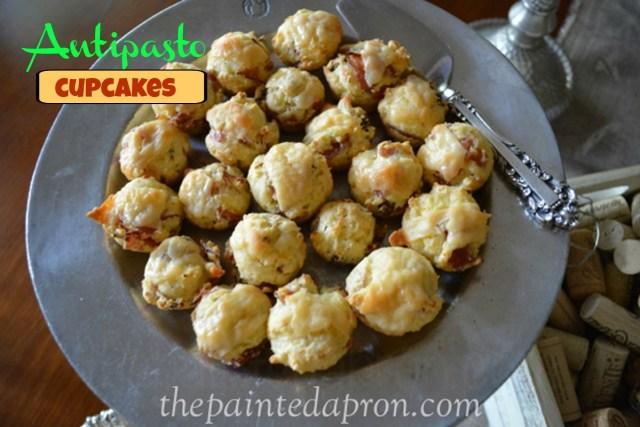 antipasto mini cocktail cupcakes