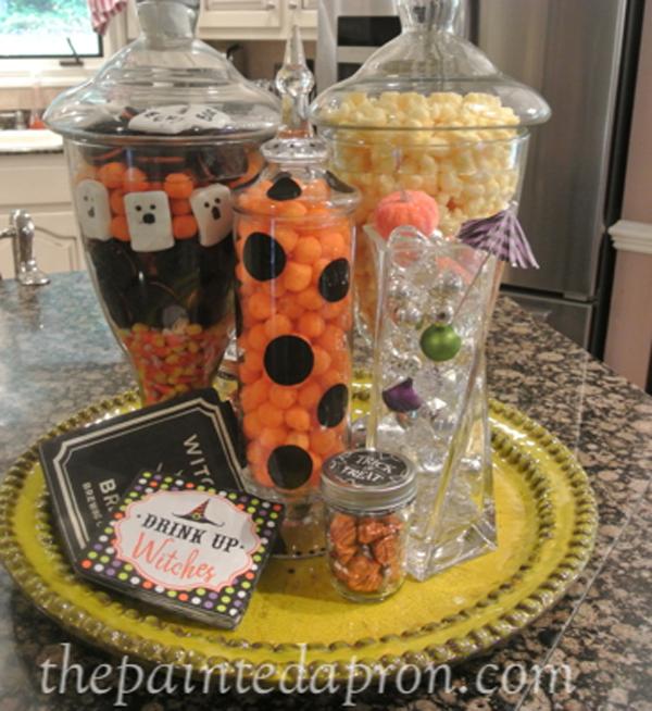 Halloween jars thepaintedapron.com