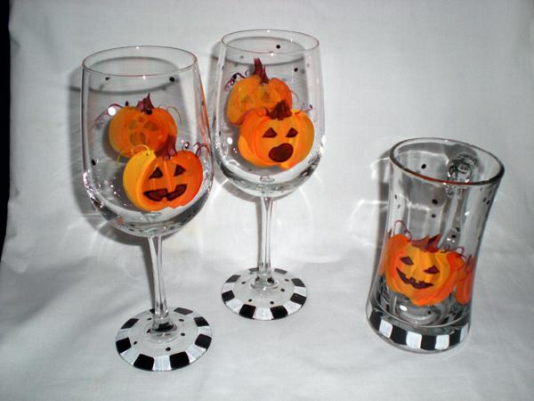 pumpkin glasses thepaintedapron.com