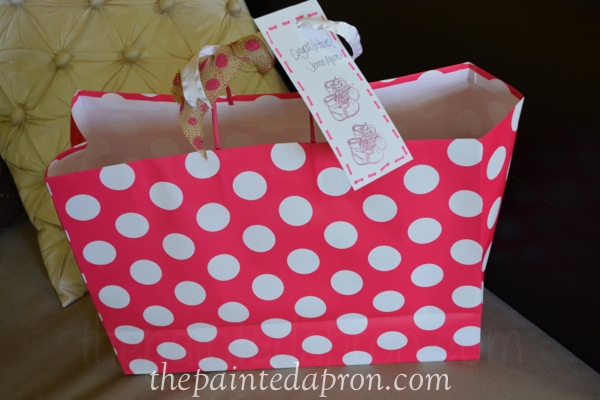 quick wrap and stamped tag thepaintedapron.com