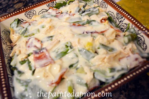 spinach ravioli casserole thepaintedapron.com