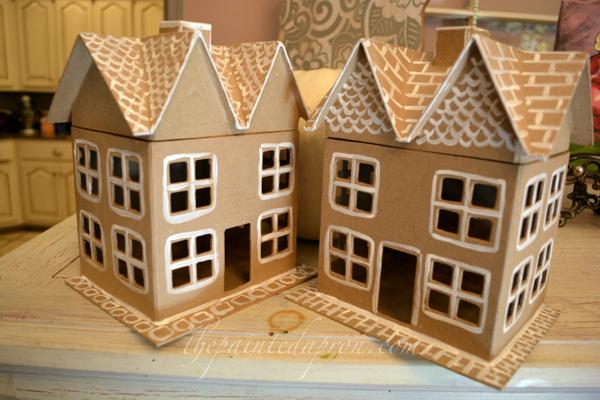 """gingerbread houses"" thepaintedapron.com"