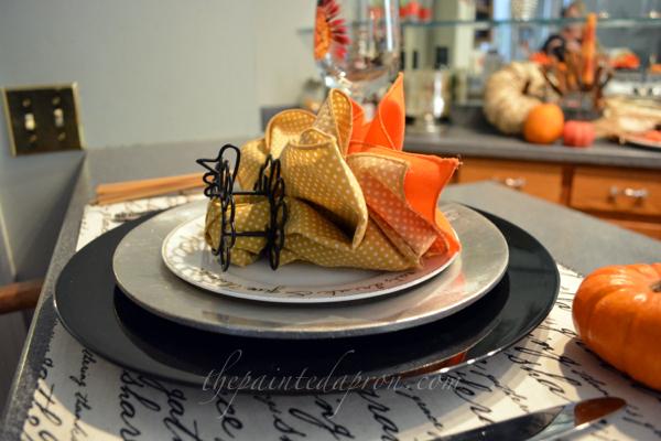 turkey napkin 4 thepaintedapron.com