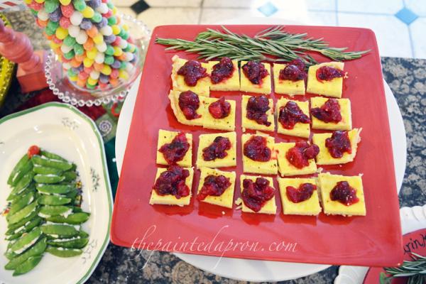 bleu cheese tart with cranberry chutney 1 thepaintedapron.com