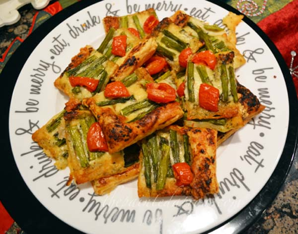 Pesto pastry squares thepaintedapron.com