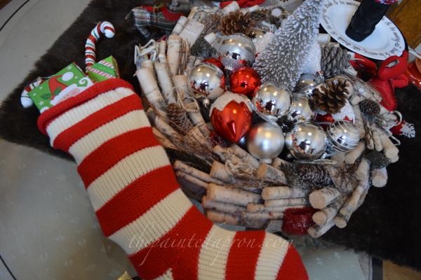 wreath centerpiece thepaintedapron.com