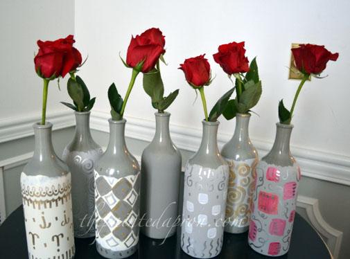 bottle bud vases thepaintedapron.com