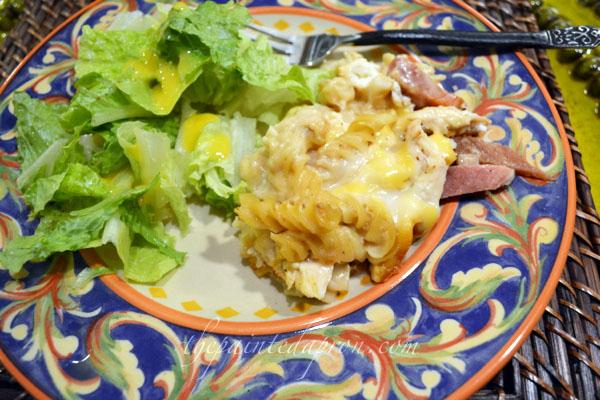 chicken and ham bechamel pasta thepaintedapron.com