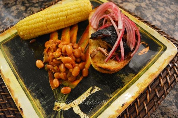 corn, beans, brisket thepaintedapron.com