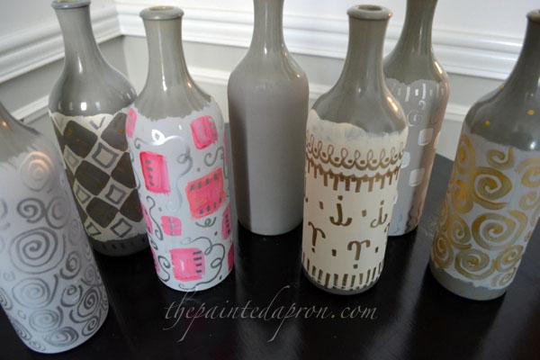 doodle bottles thepaintedapron.com