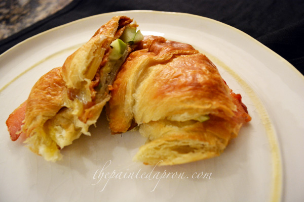 croissant sandwich for any time of day thepaintedapron.com