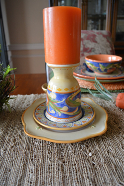 cup and saucer candlestick thepaintedapron.com