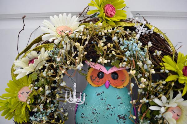 Garden Fairy wreath thepaintedapron.com