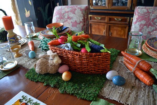vegetable garden centerpiece thepaintedapron.com