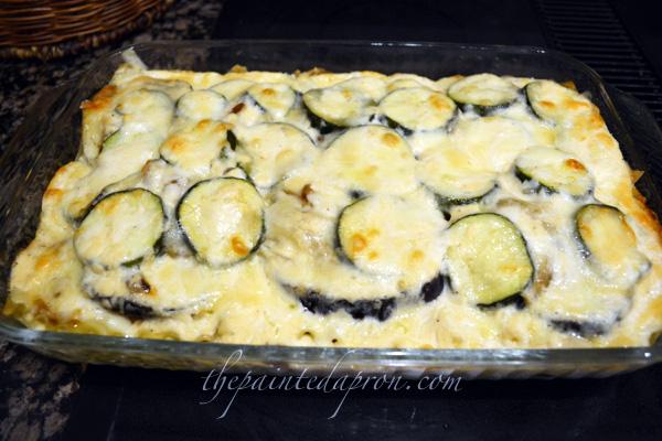 veggie lasagna 4 thepaintedapron.com