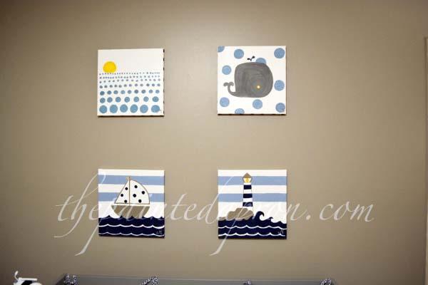 nautical nursery art 1 thepaintedapron.com