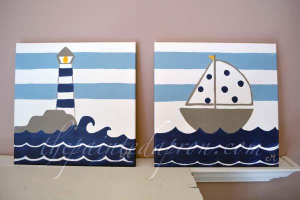 nautical nursery art 3 thepaintedapron.com