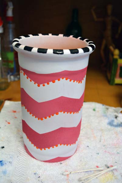painted wine cooler 2 thepaintedapron.com