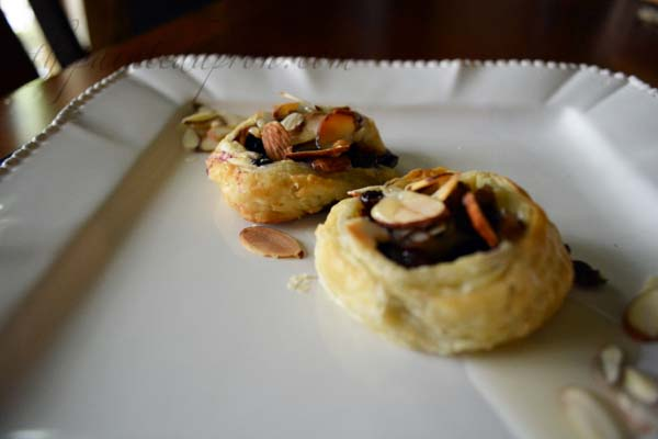 blueberry almond pastries with coconut drizzle thepaintedapron.com
