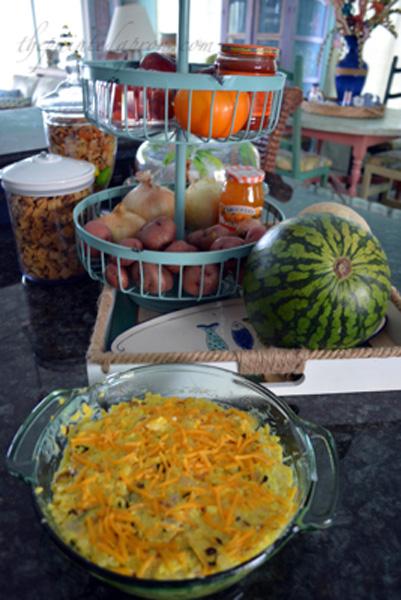 saffron rice casserole thepaintedapron.com