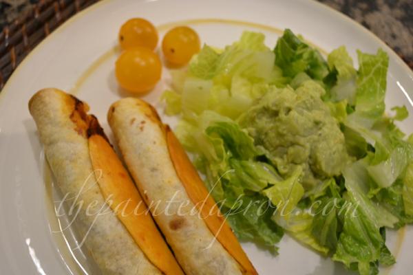 tacquitos and guacamole thepaintedapron.com