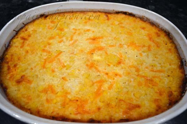 Boozy Corn Bake thepaintedapron.com