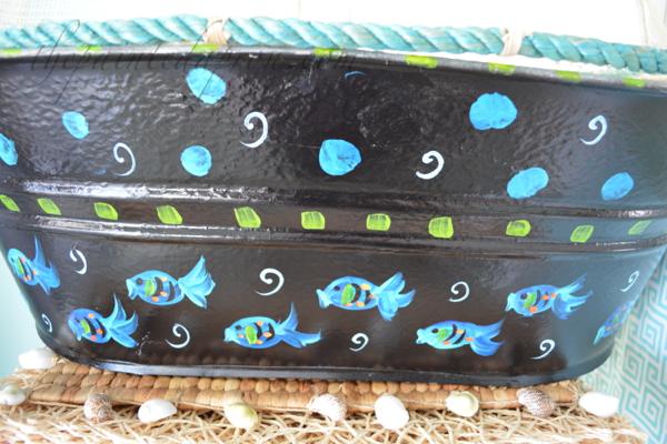 fish tub thepaintedapron.com