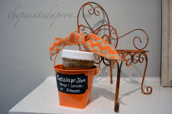 cantaloupe jam bucket thepaintedapron.com