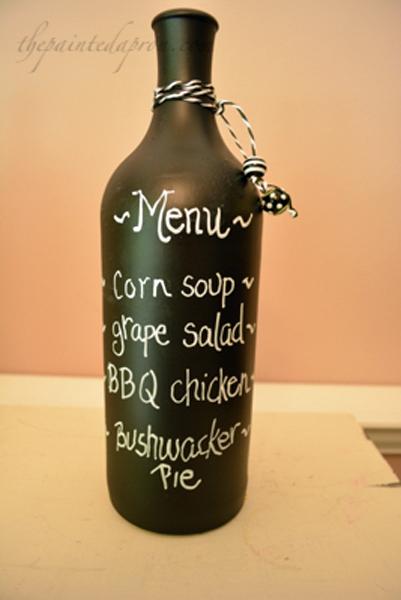 chalkboard menu bottle thepaintedapron.com