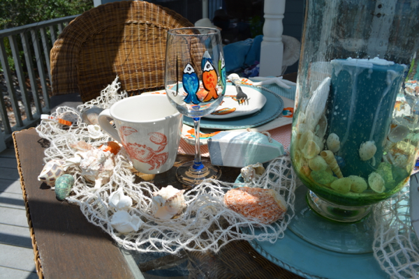 crabs, fish, shells thepaintedapron.com