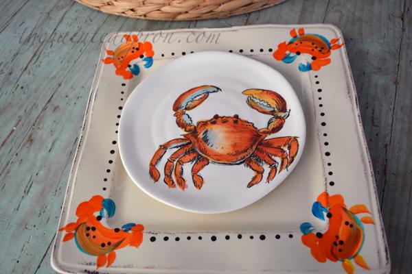 feelin crabby platter thepaintedapron.com