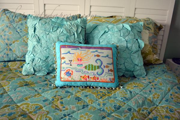 mermaid pillow thepaintedapron.com