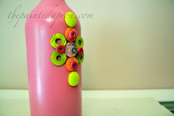 pink bling vase 1 thepaintedapron.com